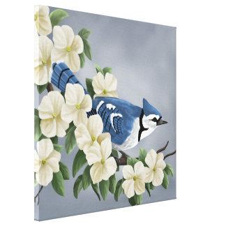 Blue Jay Art Prints Canvas Print