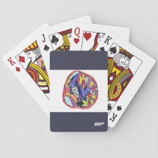 Blue jay art two poker deck