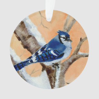 Blue Jay At Sunset Ornament
