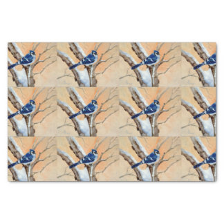 Blue Jay At Sunset Tissue Paper