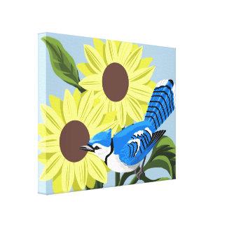 Blue Jay Canvas Art Gallery Wrap Canvas