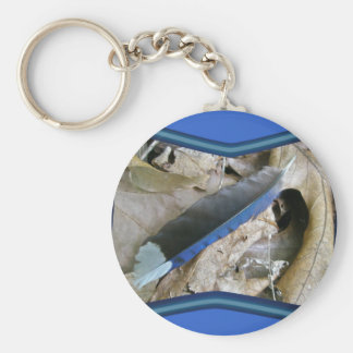 Blue Jay Feather Coordinating Items Basic Round Button Key Ring