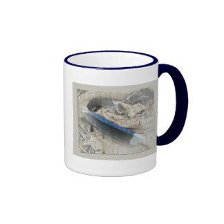Blue Jay Feather Coordinating Items Ringer Mug