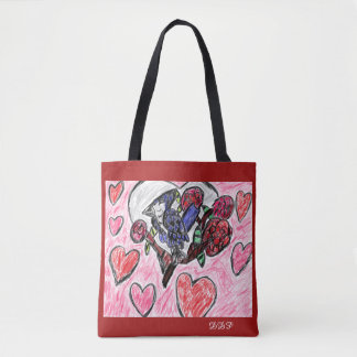 Blue jay flowers tote bag