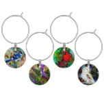 Blue Jay in the Tree Wine Charms