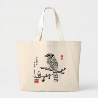 Blue Jay Jumbo Tote Bag