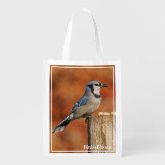 Blue Jay Reusable Grocery Bag