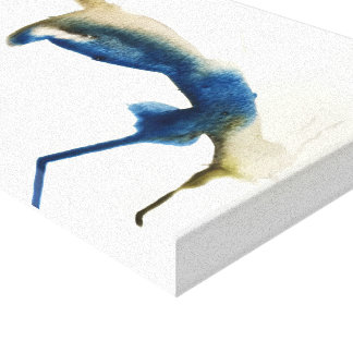 Blue Jay Watercolor Print by Oliver on Canvas