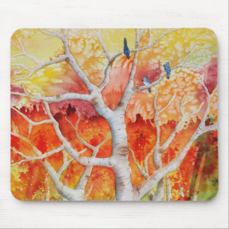 Blue jays in Autumn Mouse Mat