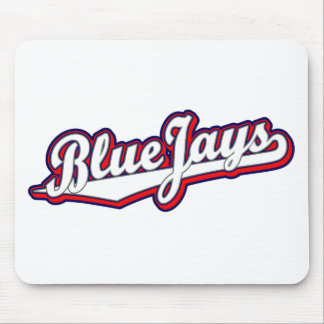 Blue Jays in White Gray and Red Mouse Mat