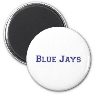 Blue Jays square logo 6 Cm Round Magnet