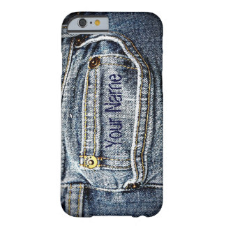Blue Jean Denim Pocket - Add your name or initials Barely There iPhone 6 Case