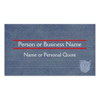 Blue Jean Design Profile & Business Card Templat