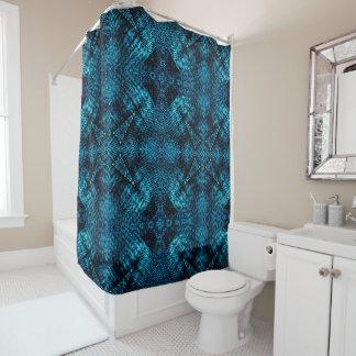 Blue Jean Fractal Shower Curtain
