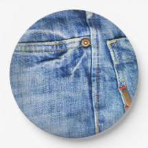 BLUE JEANS 9 INCH PAPER PLATE