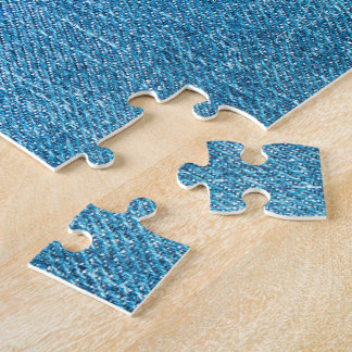 Blue Jeans Back Pocket Jigsaw Puzzle
