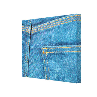 Blue Jeans Back Pocket Wrapped Canvas