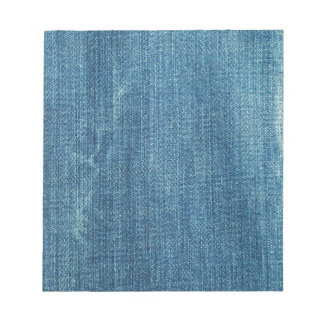 Blue jeans background notepad