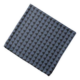 Blue Jeans Blue Hearts on Black Head Kerchiefs