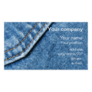 Blue jeans business card