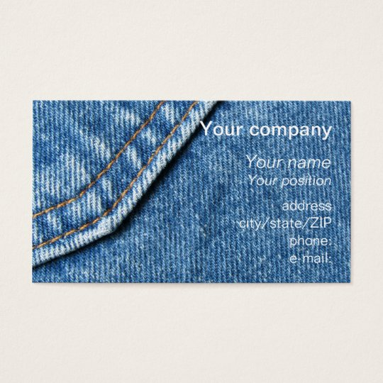 """Blue jeans"" business card"