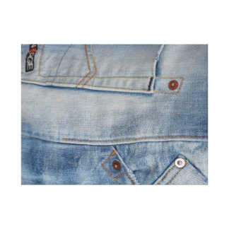 BLUE JEANS CANVAS PRINT