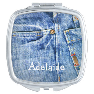 Blue Jeans Compact Mirror
