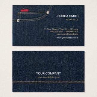 Blue Jeans Denim Pocket business card