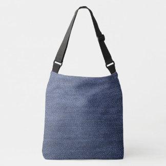 Blue jeans denim style, denim jeans photo print crossbody bag