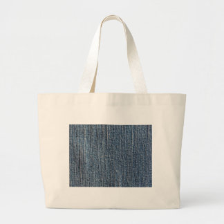 Blue jeans denim textile large tote bag