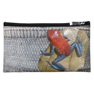 Blue Jeans Frog Cosmetic Bag