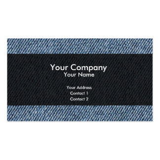 Blue jeans pack of standard business cards