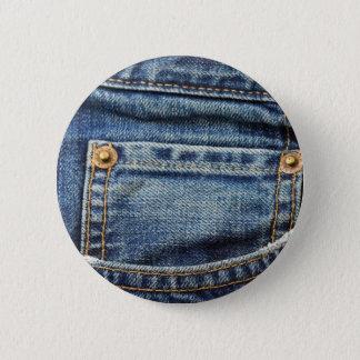Blue Jeans Pocket 6 Cm Round Badge