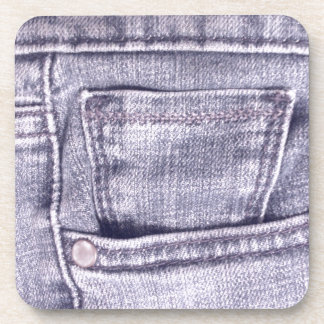Blue Jeans Pocket Fabric Seams Coasters