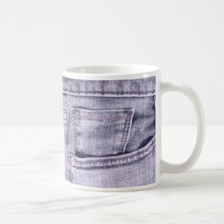 Blue Jeans Pocket, Fabric, Seams Mug