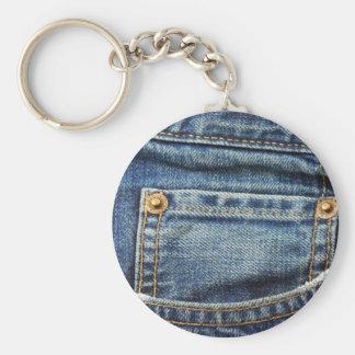 Blue Jeans Pocket Key Ring