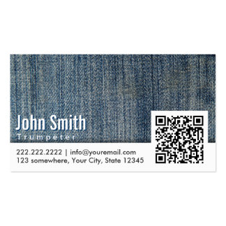 Blue Jeans QR Code Trumpeter Business Card