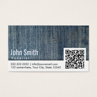 Blue Jeans QR Code Vocalist Business Card