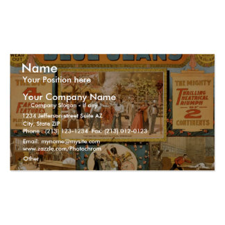 Blue Jeans Retro Theater Business Card Templates