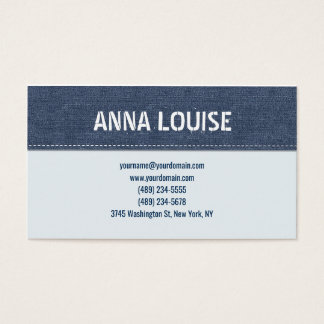 Blue jeans simple business card