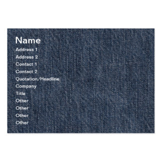 Blue jeans texture large business cards (Pack of 100)