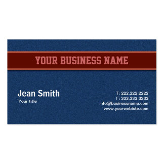 Blue Jeans Texture business card