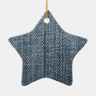 Blue jeans texture ceramic star decoration
