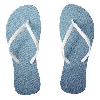 Blue jeans texture flip flops