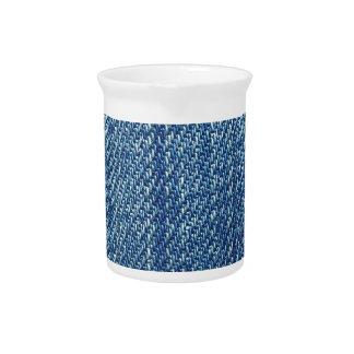 Blue jeans texture pitcher