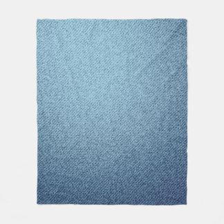 Blue jeans texture. Rough textile Fleece Blanket
