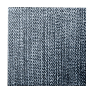 Blue jeans texture small square tile