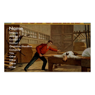 Blue Jeans The Great Saw Mill Scene Retro Theat Business Card Templates