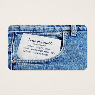 blue jeans web designer business card