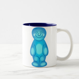 Blue Jelly Baby Two-Tone Coffee Mug